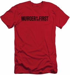 Murder In The First slim-fit t-shirt Logo mens red