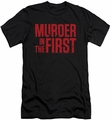 Murder In The First slim-fit t-shirt Stacked Logo mens black