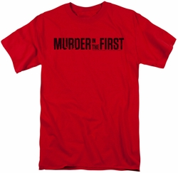 Murder In The First t-shirt Logo mens red