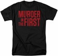 Murder In The First t-shirt Stacked Logo mens black