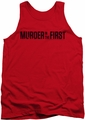 Murder In The First tank top Logo adult red