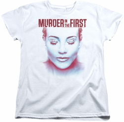Murder In The First womens t-shirt Don't Talk white
