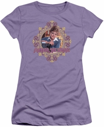 Murder She Wrote juniors t-shirt Jessica Fletcher lavendar