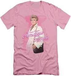 Murder She Wrote slim-fit t-shirt Amateur Sleuth mens pink