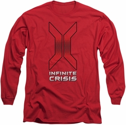 Infinite Crisis long-sleeved shirt Title red