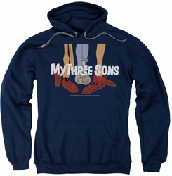 My Three Sons pull-over hoodie Shoes Logo adult navy