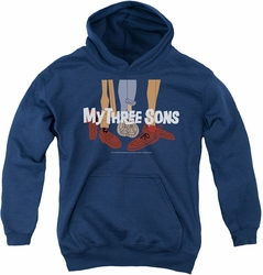 My Three Sons youth teen hoodie Shoes Logo navy