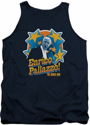 Naked Gun tank top Its Enrico Pallazzo mens navy