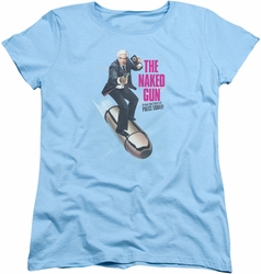 Naked Gun womens t-shirt Bullet light blue
