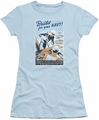 Navy juniors sheer t-shirt Build Your Navy light blue