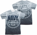 Navy mens full sublimation t-shirt Force For Good