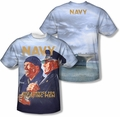 Navy mens full sublimation t-shirt Long Gaze
