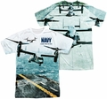 Navy mens full sublimation t-shirt Osprey
