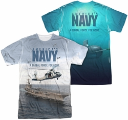 Navy mens full sublimation t-shirt Over And Under