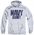 Navy pull-over hoodie Aunt adult athletic heather