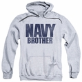 Navy pull-over hoodie Brother adult athletic heather