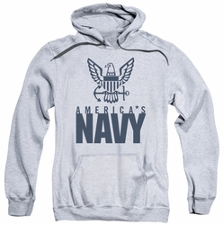 Navy pull-over hoodie Eagle Logo adult athletic heather