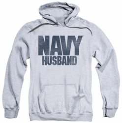 Navy pull-over hoodie Husband adult athletic heather