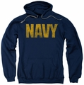 Navy pull-over hoodie Logo adult navy