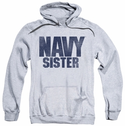 Navy pull-over hoodie Sister adult athletic heather
