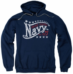 Navy pull-over hoodie Stars adult navy