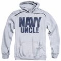 Navy pull-over hoodie Uncle adult athletic heather
