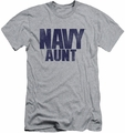 Navy slim-fit t-shirt Aunt mens athletic heather