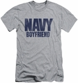 Navy slim-fit t-shirt Boyfriend mens athletic heather