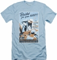 Navy slim-fit t-shirt Build Your Navy mens light blue