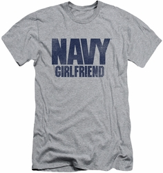 Navy slim-fit t-shirt Girlfriend mens athletic heather