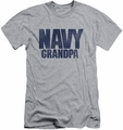 Navy slim-fit t-shirt Grandpa mens athletic heather