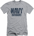 Navy slim-fit t-shirt Husband mens athletic heather