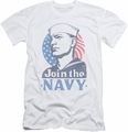 Navy slim-fit t-shirt Join Now mens white