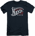 Navy slim-fit t-shirt Stars mens navy