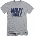 Navy slim-fit t-shirt Uncle mens athletic heather