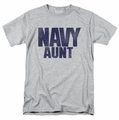 Navy t-shirt Aunt mens athletic heather