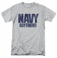 Navy t-shirt Boyfriend mens athletic heather