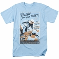 Navy t-shirt Build Your Navy mens light blue