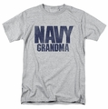 Navy t-shirt Grandma mens athletic heather