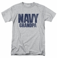 Navy t-shirt Grandpa mens athletic heather