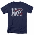 Navy t-shirt Stars mens navy