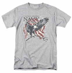 Navy t-shirt Trident mens athletic heather
