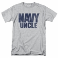 Navy t-shirt Uncle mens athletic heather
