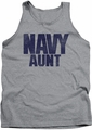 Navy tank top Aunt mens athletic heather