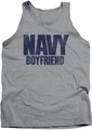 Navy tank top Boyfriend mens athletic heather