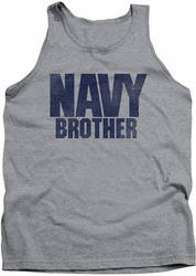 Navy tank top Brother mens athletic heather