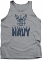 Navy tank top Eagle Logo mens athletic heather