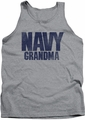 Navy tank top Grandma mens athletic heather