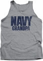 Navy tank top Grandpa mens athletic heather