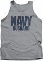 Navy tank top Husband mens athletic heather
